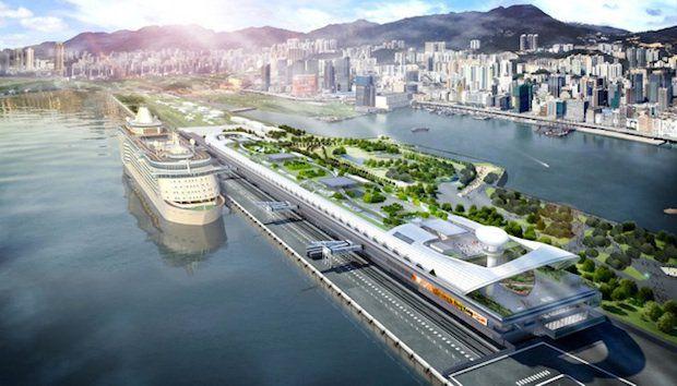 Neues Kreuzfahrt-Terminal in Hong Kong