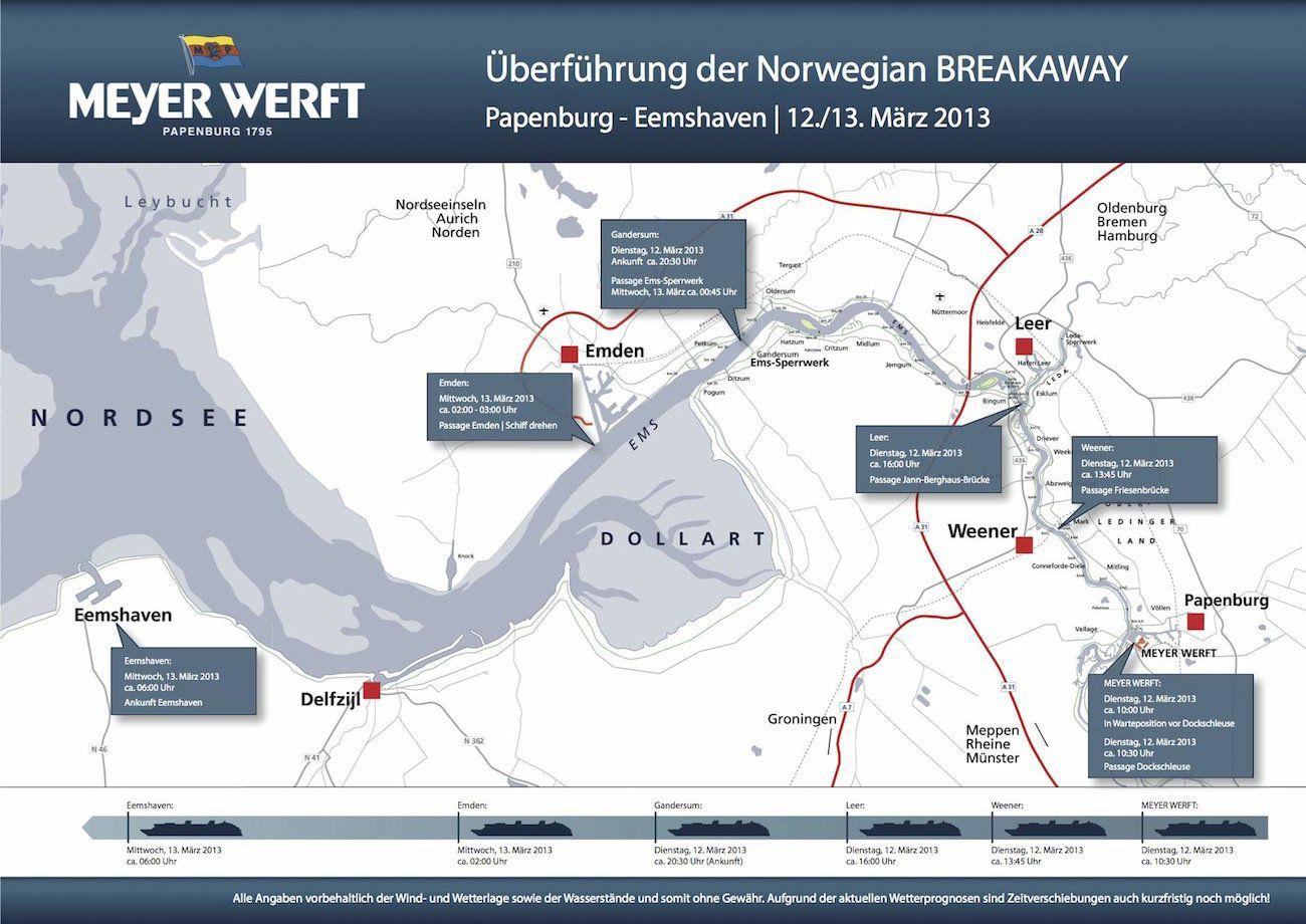 Norwegian Breakaway Zeitplan Emsuberfuehrung
