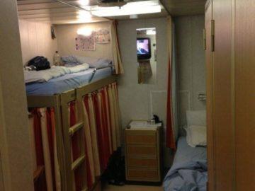 Betten - Crewkabine Mein Schiff 2