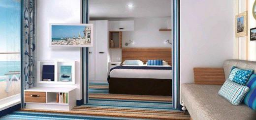 Familienkabine mit Balkon auf der Mein Schiff 3 / © TUI Cruises