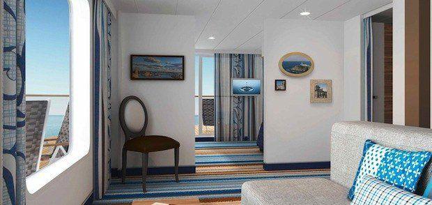 Familienkabine mit Veranda auf der Mein Schiff 3 / © TUI Cruises