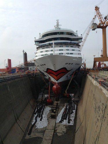 AIDAbella in der Lloyd Werft / © AIDA