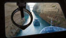 Kanal von Korinth: Bilder von der Brücke der MS Berlin