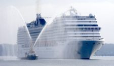 350. MSC Kreuzfahrten Anlauf in Kiel