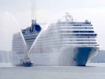 MSC Musica Erstanlauf in Kiel / © Port of Kiel