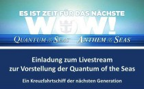 "Erste Details zur Quantum of the Seas – ""Firsts at Sea"" – Livestream"