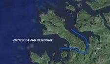 Stad-Skiptunnel zwischen Moldefjord (Eide) und Vanylvsfjord (Kjøde)