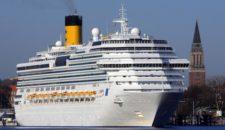 Costa Pacifica Erstanlauf in Kiel 2013