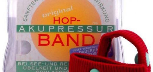 Hop Akkurpressur-Bänder gegen Seekrankheit / © Hop