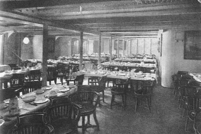 Titanic 1912: Speiseraum der dritten Klasse / © Blue Star Line