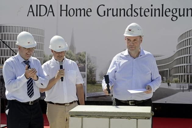 AIDA Home - Grundsteinlegung
