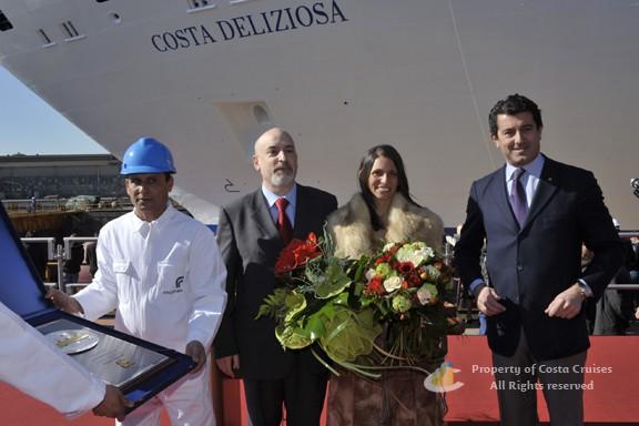 Gianni Onorato (ganz rechts) / © Costa Crociere