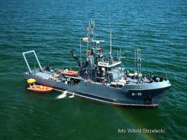 Spezial-Schiff der Marine ORP Macko / © Foto Witol Strzelecki - polnische Marine