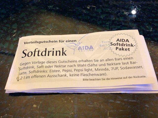 Getranke/Speisekarte Aida