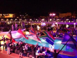 Sailaway Party auf dem Pooldeck