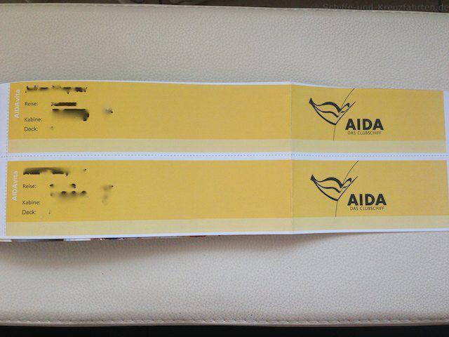 AIDA Reiseunterlagen - Kofferanhänger