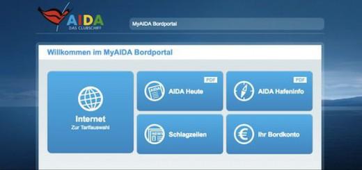 myAIDA Bordportal - Startseite