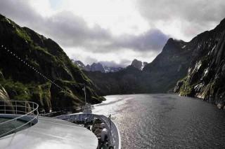 MS Ocean Majesty in Norwegen im Trollfjord