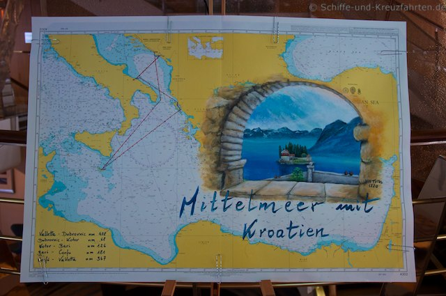 Mein Schiff 2 Seekarte
