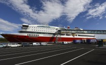 MS Stavangerfjord läuft zum ersten Mal neuen Hafen in Langesund an