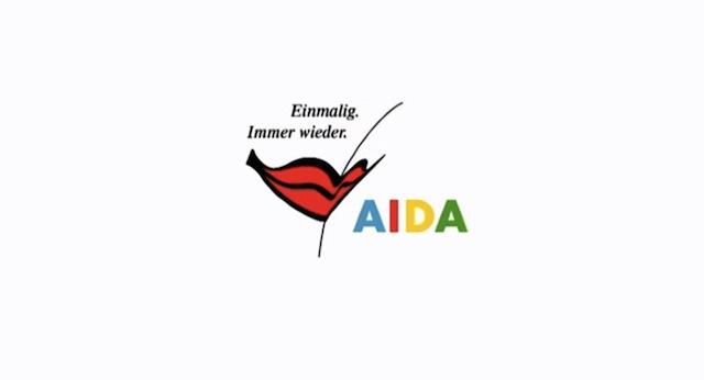 AIDA neues Logo und neuer Markenslogan