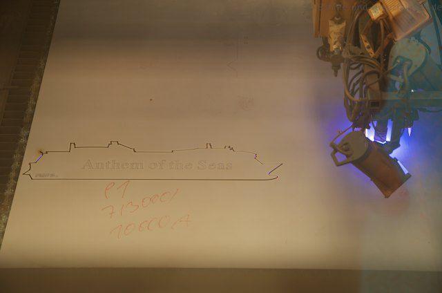 Erster Stahlschnitt der Quantum of the Seas