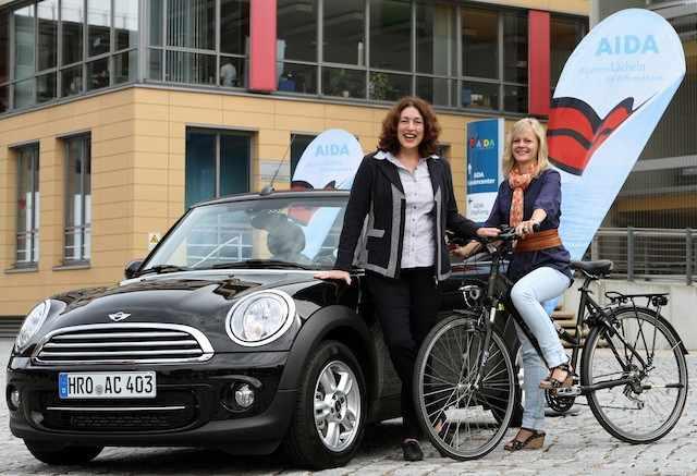 AIDA Mini und AIDA Fahrrad / © AIDA Cruises