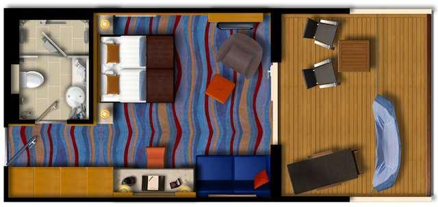 Grundriss: Mein Schiff Herz Junior Suite / © TUI Cruises
