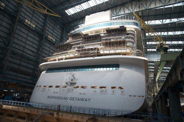Norwegian Getaway in der Meyer Werft