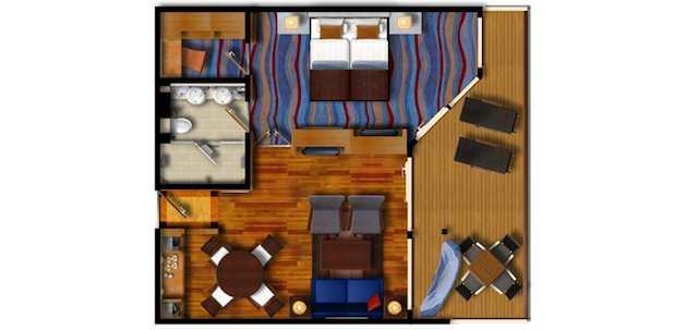 Grundriss: Mein Schiff 2 Suite / © TUI Cruises