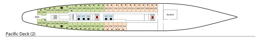 Deck 2: Pacific Deck | MS Azores Deckplan