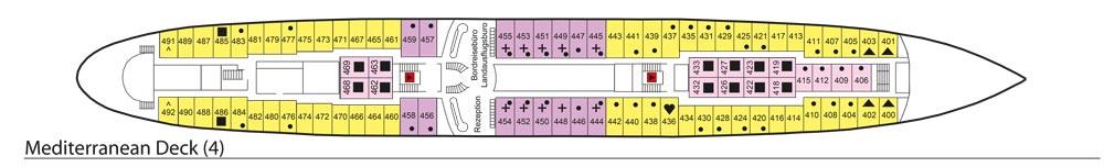 Deck 4: Mediterranean Deck | MS Azores Deckplan