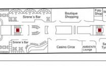 Deck 4a: Calypso Deck | MS Azores Deckplan