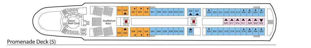 Deck 5: Promenade Deck | MS Azores Deckplan