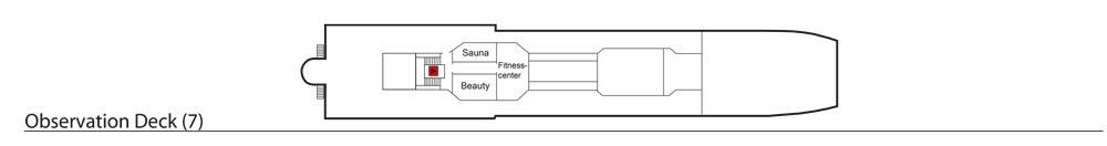 Deck 7: Observation Deck | MS Azores Deckplan