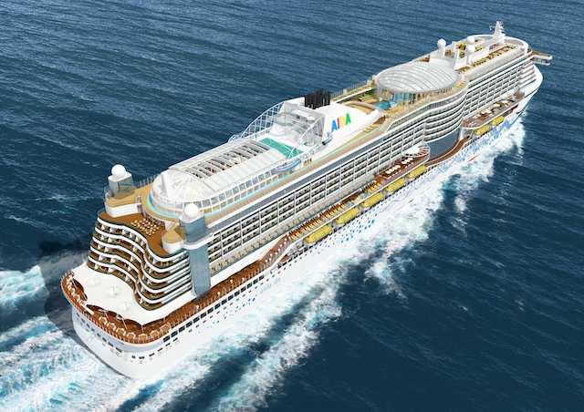 Heckansicht von oben von AIDAprima / © AIDA Cruises