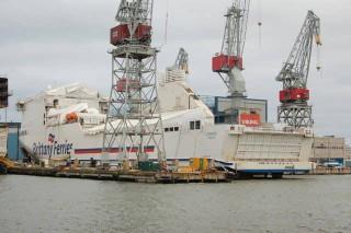 Cotentin beim Bau in Helsinki - Bildquelle: STX Finland