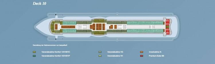 AIDAprima Deck 10 / © AIDA Cruises
