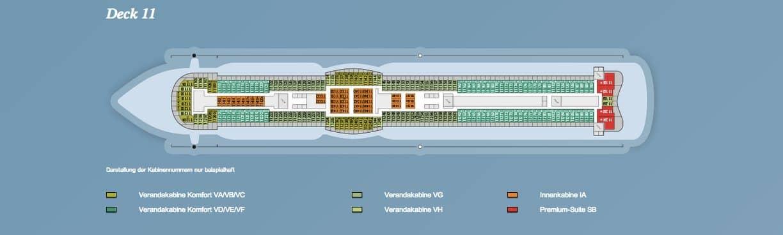 AIDAprima Deck 11 / © AIDA Cruises