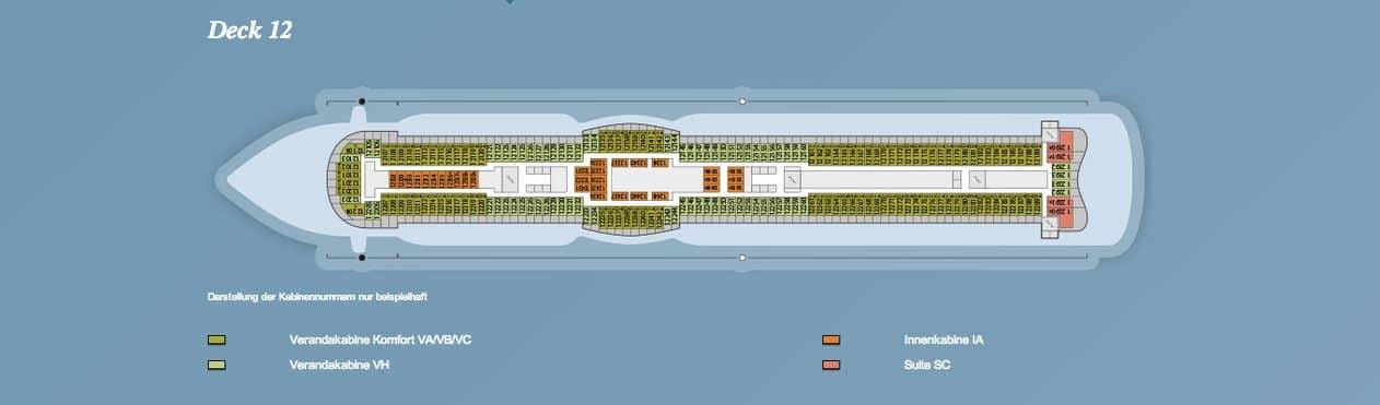 AIDAprima Deck 12 / © AIDA Cruises