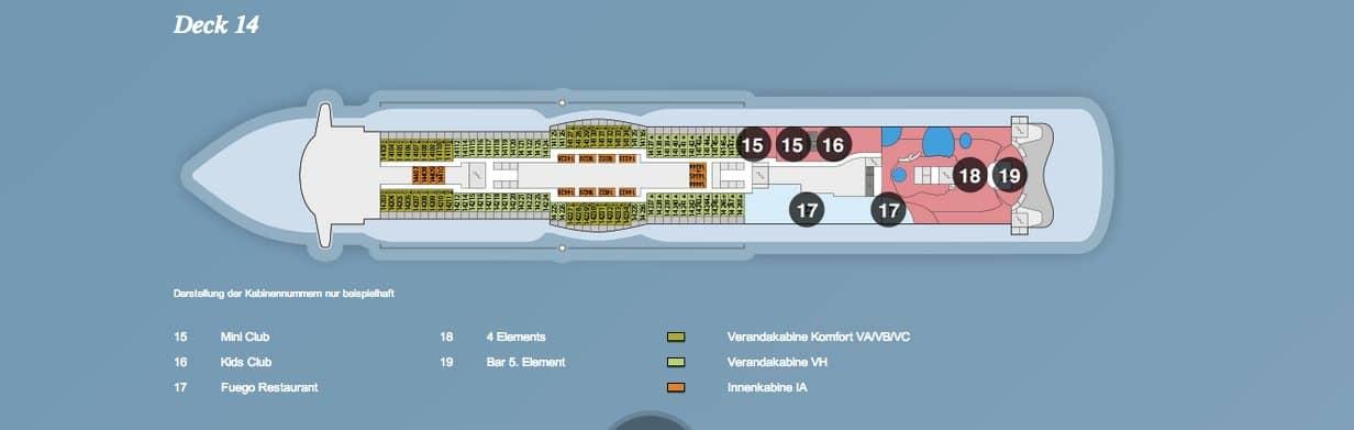 AIDAprima Deck 14 / © AIDA Cruises