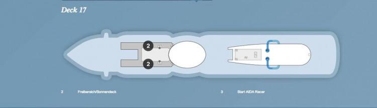 AIDAprima Deck 17 / © AIDA Cruises