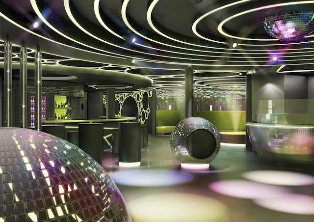 Diskothek D6 auf AIDAprima im Bug / © AIDA Cruises
