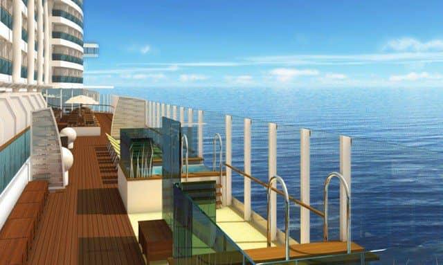 Infinity Pools mit Meerblick auf Deck 8 von AIDAprima / © AIDA Cruises