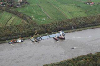 Schiffsunfall: MS SIderfly mit Schlagseite im Nord-Ostsee-Kanal / © Havariekommando