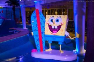 Spongebob im Aquapark der Norwegian Getaway