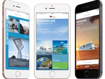 Die neue AIDA App / © AIDA Cruises