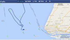 AIDAsol fährt Q-Wende vor Le Havre: 4 Stunden Verspätung (Hafen war geschlossen)