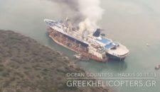 Ocean Countess brennt in Chalkis: Feuer auf Kreuzfahrtschiff