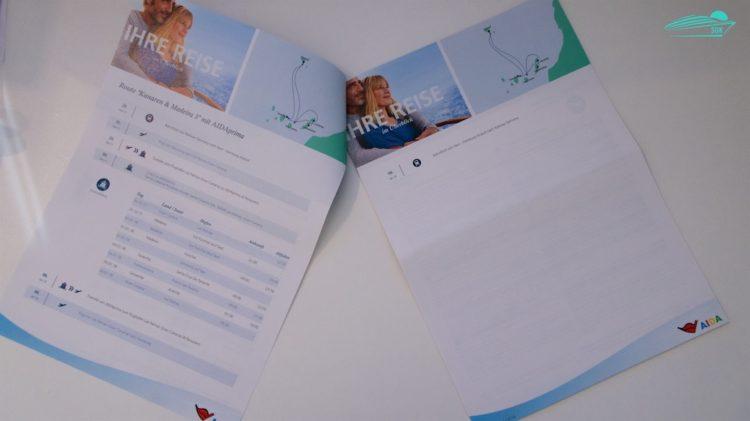Routenübersicht und Reiseinformationen - NEUE AIDA REISEUNTERLAGEN